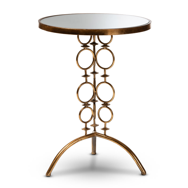 Issa Gold Mirrored Accent Table