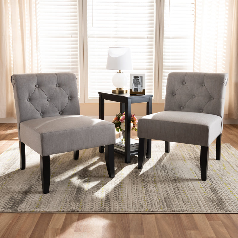 Veda 3-Piece Dark Gray Accent Chair and Table Set