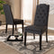 Dylin Charcoal Tufted Dining Chair Set of 2