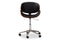 Ambrosio Black Leather Swivel Office Chair