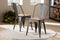 Henri Bamboo and Gun Dining Chair Set of 2
