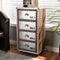 Avere Metal 4-Drawer Rolling Accent Chest
