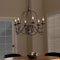Palmira Bronze 6-Light Chandelier