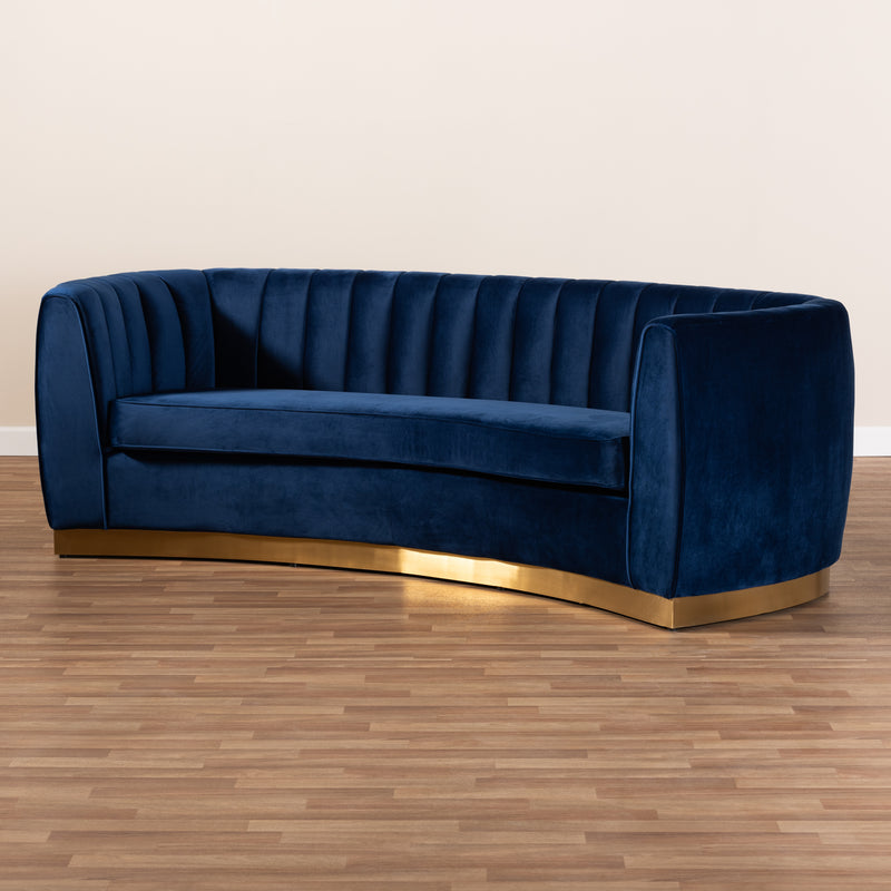 Milena Royal Blue Velvet Sofa
