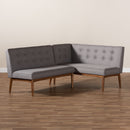 Arvid Gray 2-Piece Dining Corner Sofa Bench