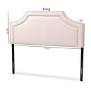 Avignon Light Pink Velvet Queen Size Headboard