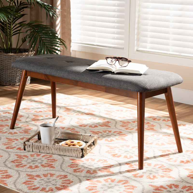 Flora II Dark Grey Dining Bench