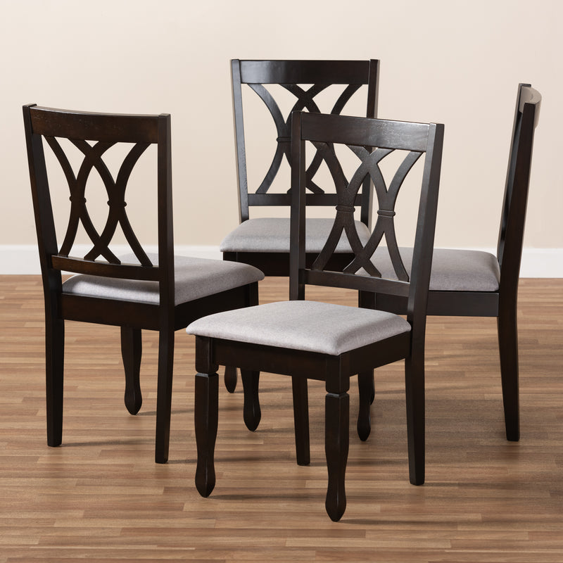 Reneau Gray Espresso Dining Chair Set of 4