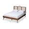 Calisto Walnut Queen Size Platform Bed