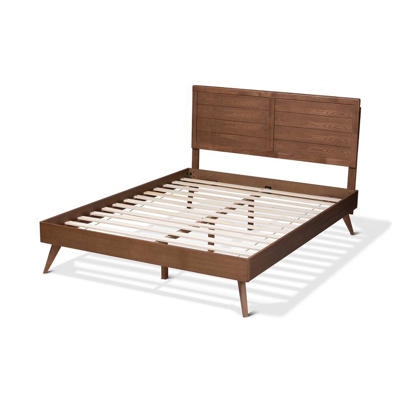 Artemis Walnut King Size Platform Bed