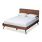 Demeter Walnut Full Size Platform Bed