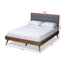 Ines Dark Grey Full Size Platform Bed