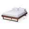Liliya Walnut King Size Platform Bed Frame