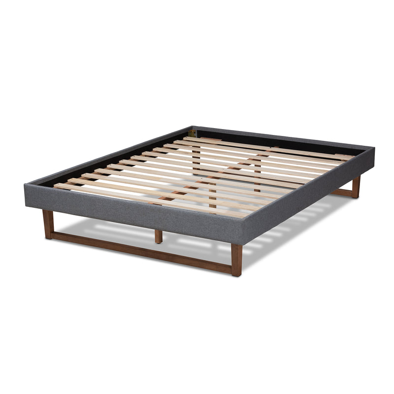 Liliya Dark Grey Full Size Platform Bed Frame
