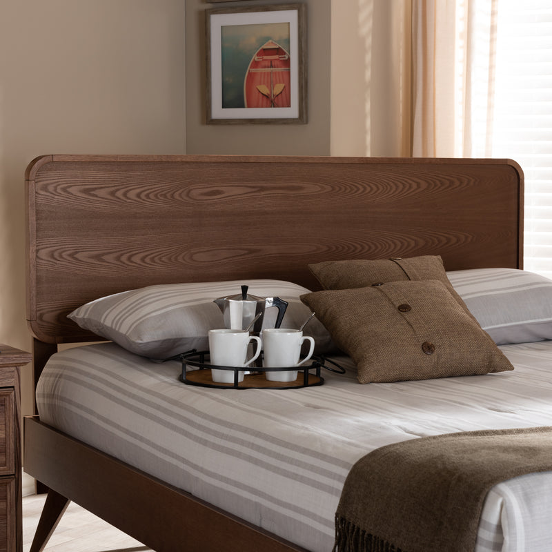 Mailene Walnut Queen Size Headboard