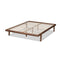 Kaia Walnut Brown Queen Size Platform Bed Frame