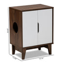 Romy Walnut 2-Door Cat Litter Box Cover House