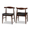 Eira Walnut Dining Chair Set of 2