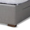 Leni Light Grey 4-Drawer Queen Size Platform Storage Bed Frame