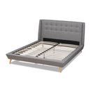 Naya Grey King Size Wingback Platform Bed