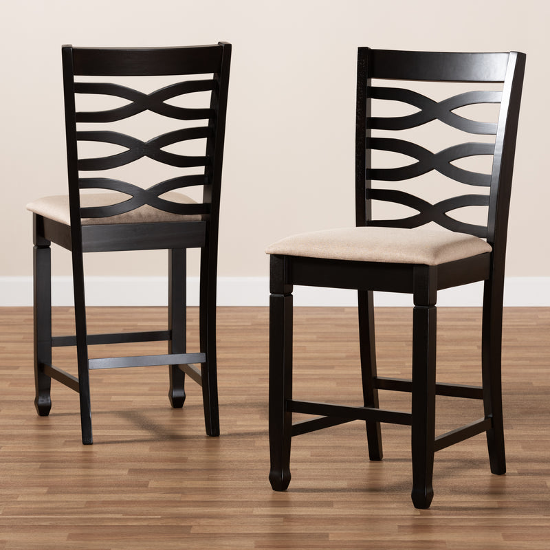 Lanier Espresso Pub Chair Set of 2