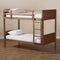 Elsie Walnut Twin Size Bunk Bed