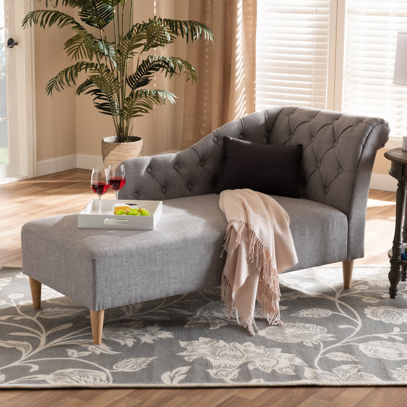 Emeline Grey Chaise Lounge