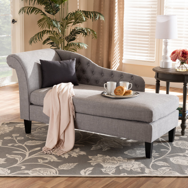 Florent Grey Chaise Lounge