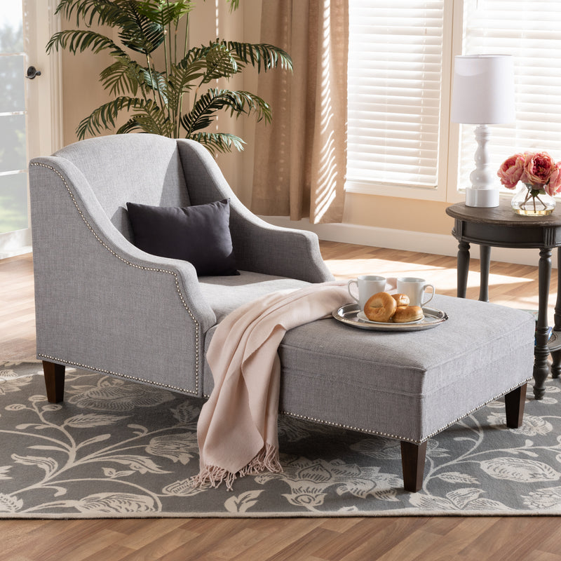 Leonie Grey Chaise Lounge