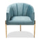 Clarisse Light Blue Velvet Accent Chair
