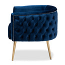 Marcelle Navy Blue Velvet Accent Chair