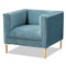 Seraphin Light Blue Velvet Armchair