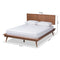 Karine Walnut Full Size Platform Bed