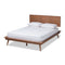 Karine Walnut King Size Platform Bed