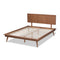 Karine Walnut Queen Size Platform Bed
