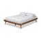 Karine Walnut Queen Size Platform Bed Frame