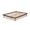 Karine Walnut King Size Platform Bed Frame