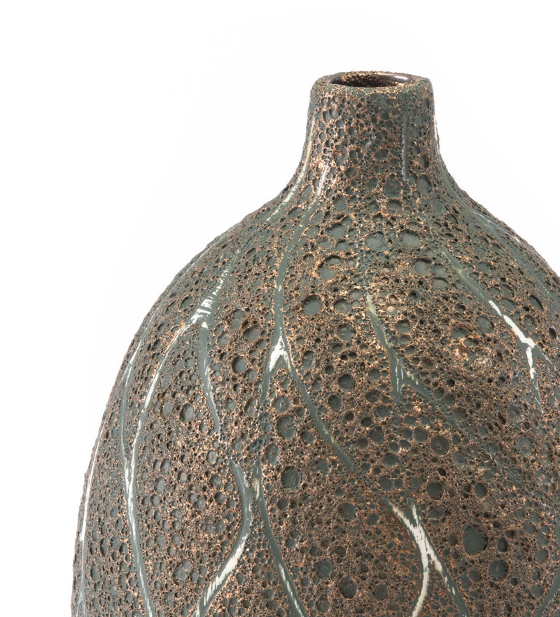 Lava Md Vase Brown & Green