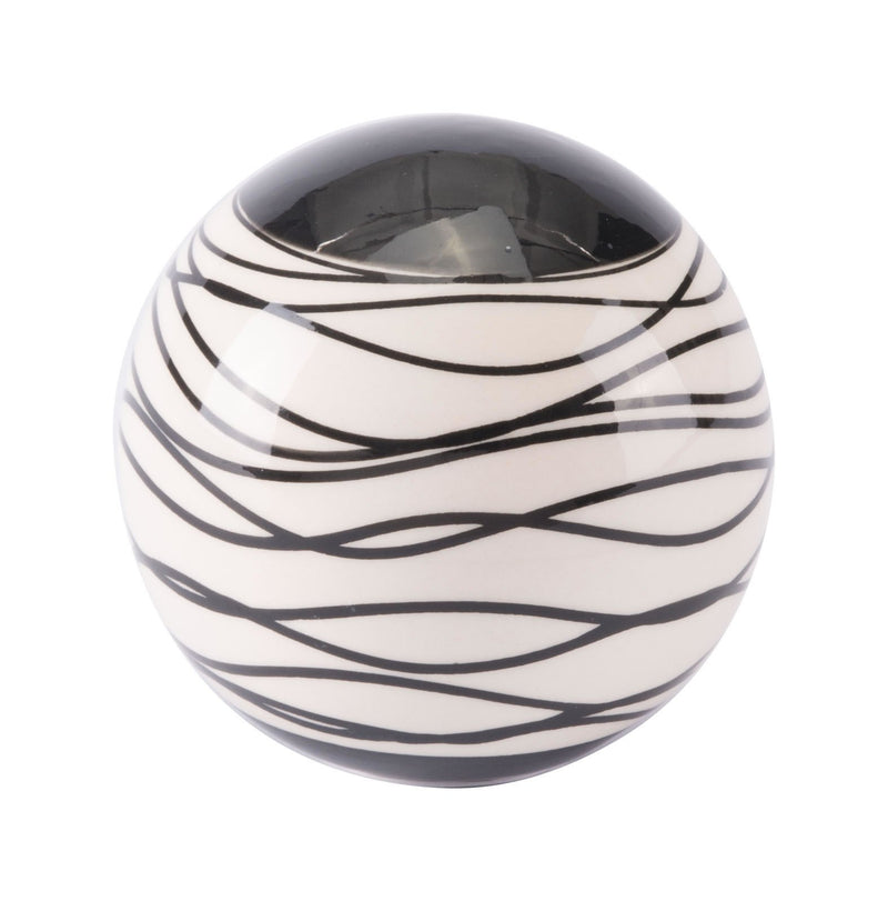 Stripes Md Orb Black & Ivory