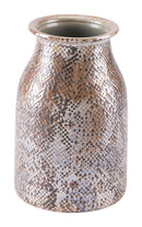 Snake Skin Short Vase Brown