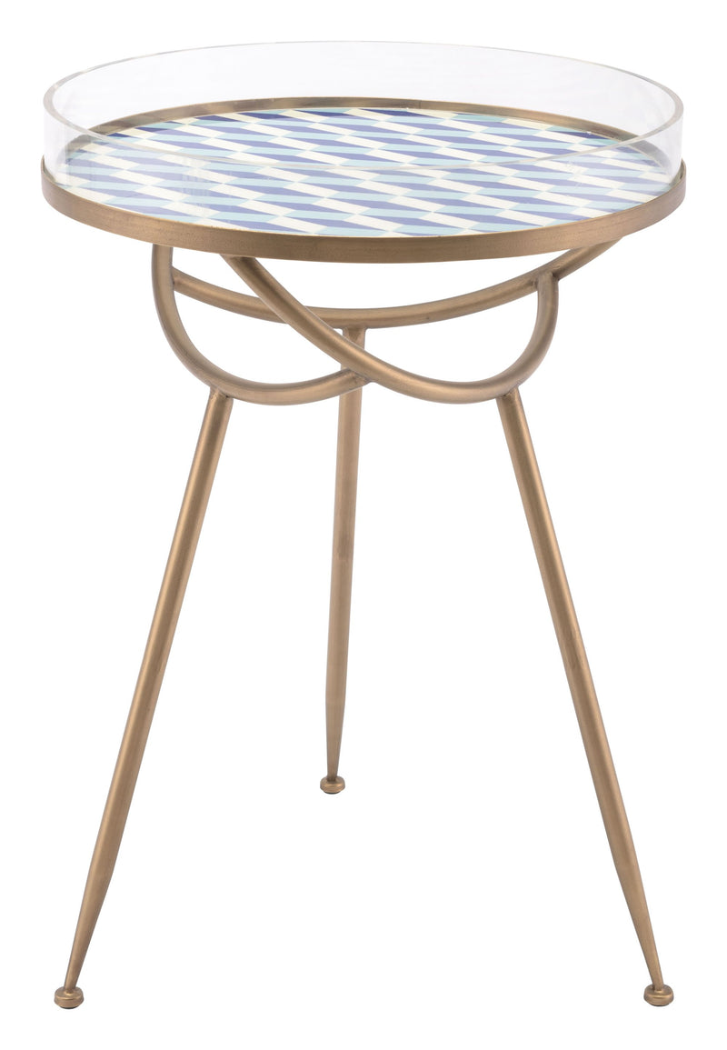 Lattice Round Table Blue