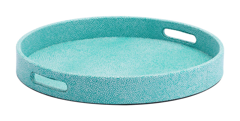 Catania Lizzard Skin Set Of 3 Trays Aqua