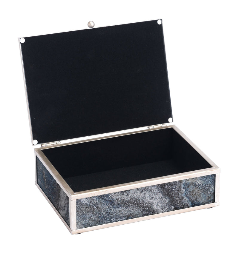 Mundi Set Of 2 Boxes Silver Geode
