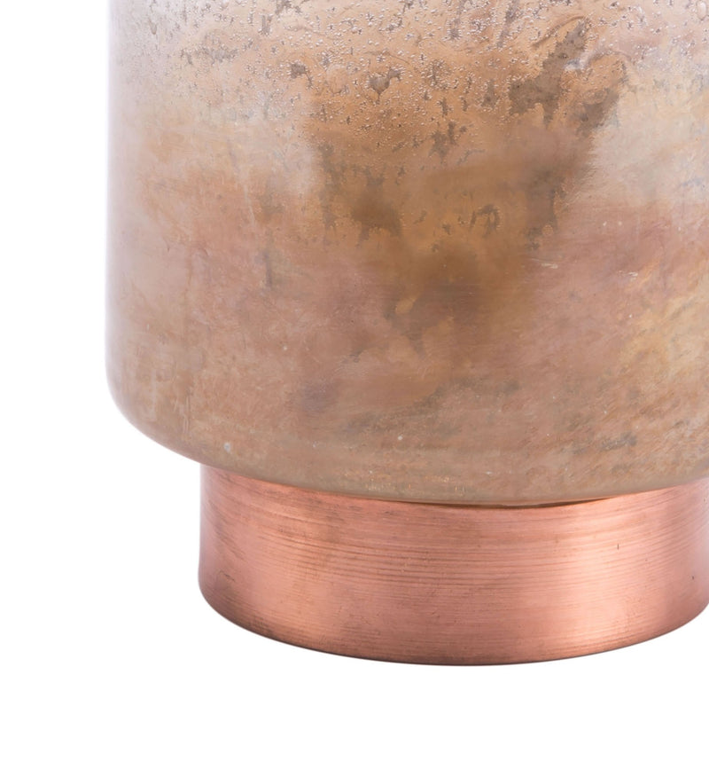Eliza Sm Vase Translucent & Copper