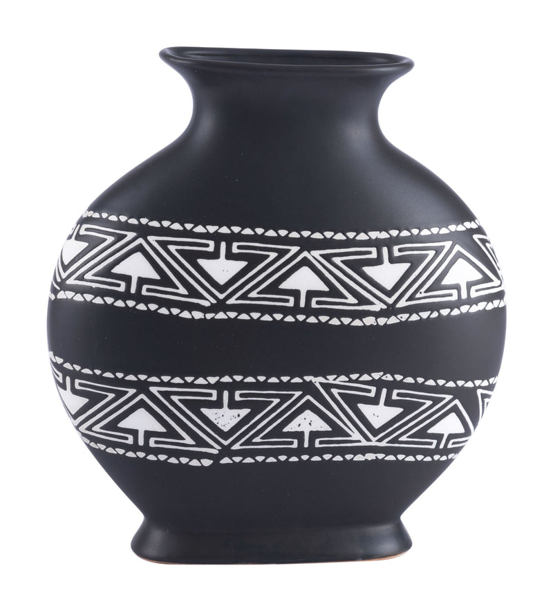 Kolla Md Vase Black & White