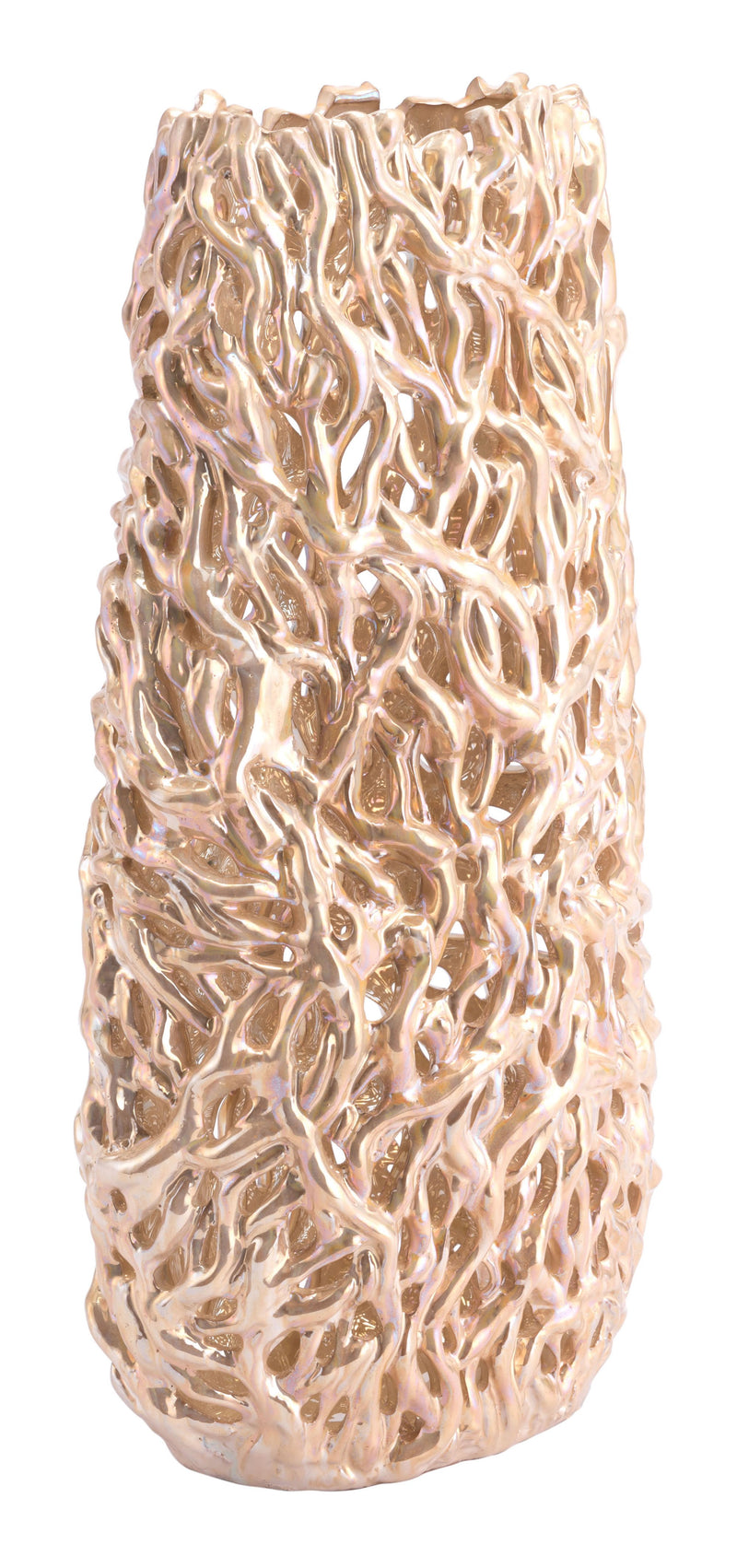 Pearl Tall Vase Gold