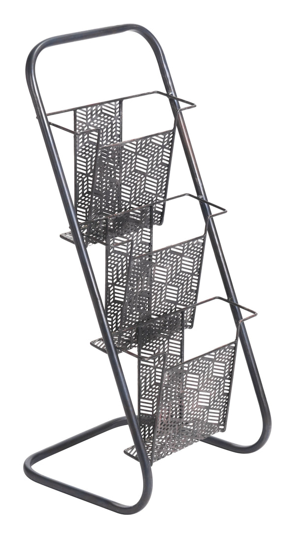 Sole Magazine Rack Black