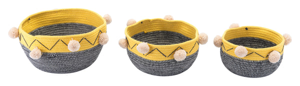 Lagos Set Of 3 Baskets Multicolor