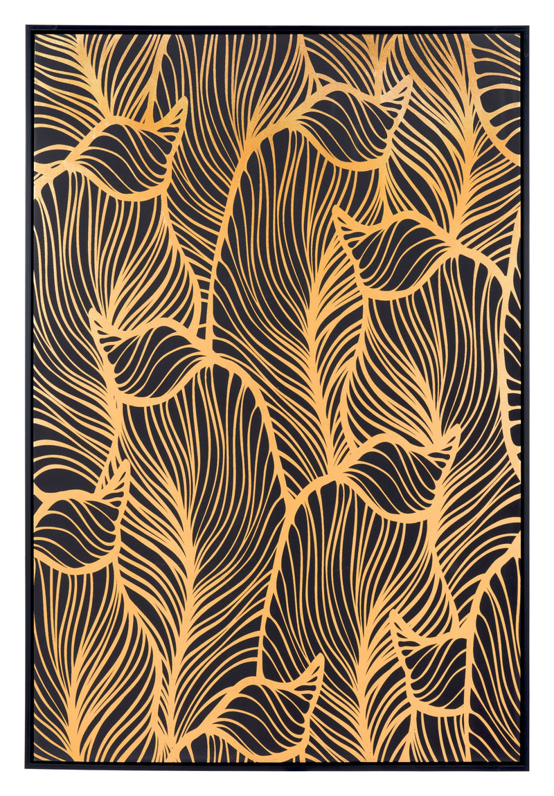 Gold Flora Canvas Black & Gold