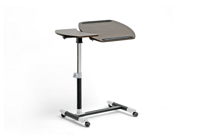 Olsen Wenge/Black Wheeled Laptop Tray Table with Tilt Control